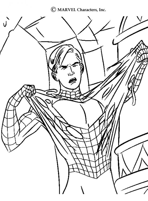 628x850 Spiderman Transformation Coloring Pages