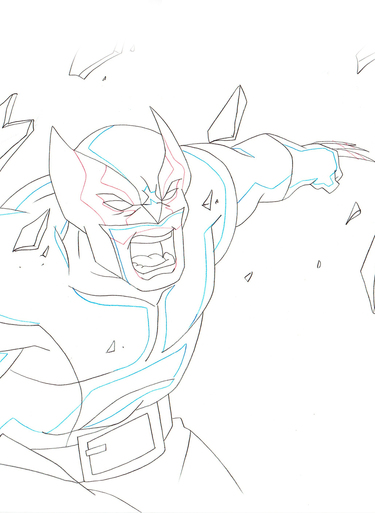 375x513 Ultimate Spider Man Original Animation Art For Sale Scene Setup