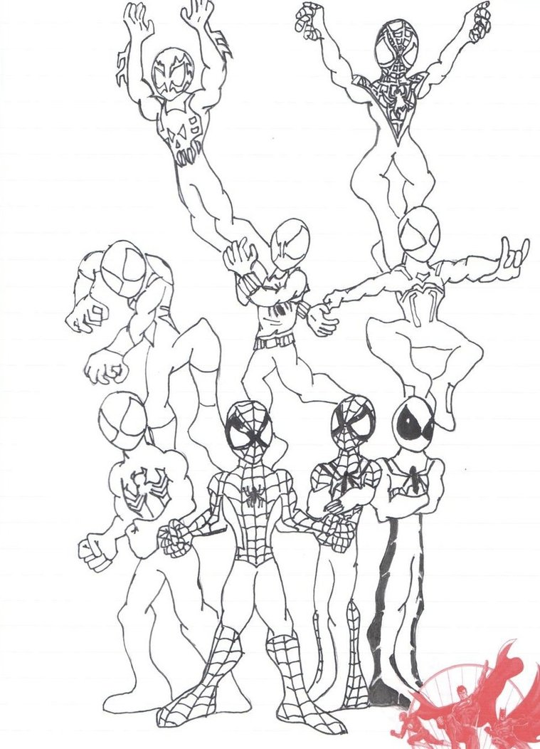759x1052 Spiderman's Costumes And Alternate Versions By Ultimatejulio