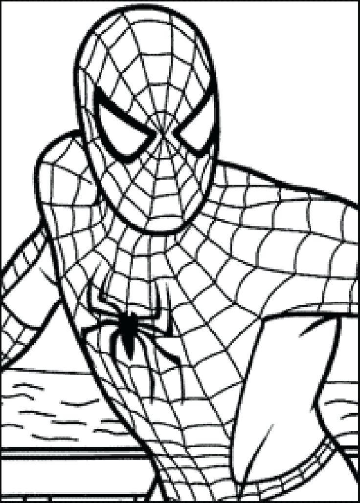 736x1030 Spider Man Color Pages Coloring Page Ultimate Spider Man Spider