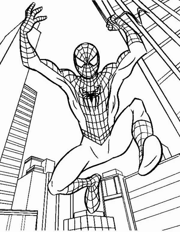 600x775 Kids Hero Spiderman Coloring Page Kids Hero Spiderman Coloring