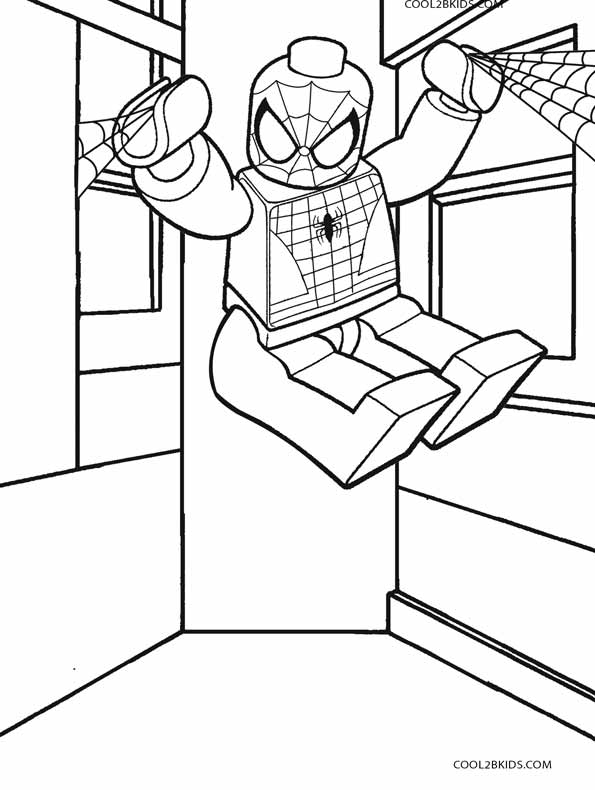 595x790 Lego Spiderman Coloring Pages