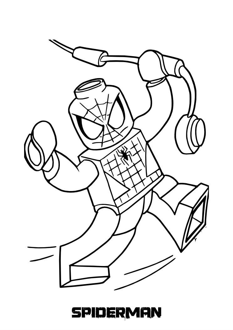 744x1052 Free Printable Lego Spiderman Coloring Pages Preschool To Pretty