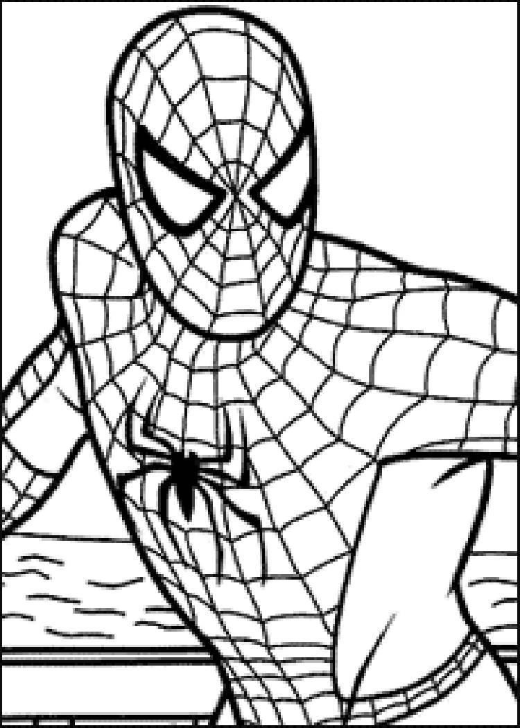 750x1050 Coloring Pages Exquisite Spiderman Coloring Page 61 Pages
