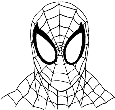 400x383 Coloring Pages Spiderman Easy Draw Spiderman Pictures Easy