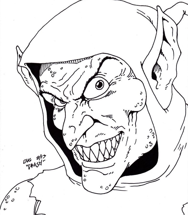 787x900 Sketch Green Goblin By Bazito On Coloring Pages For Adults Free