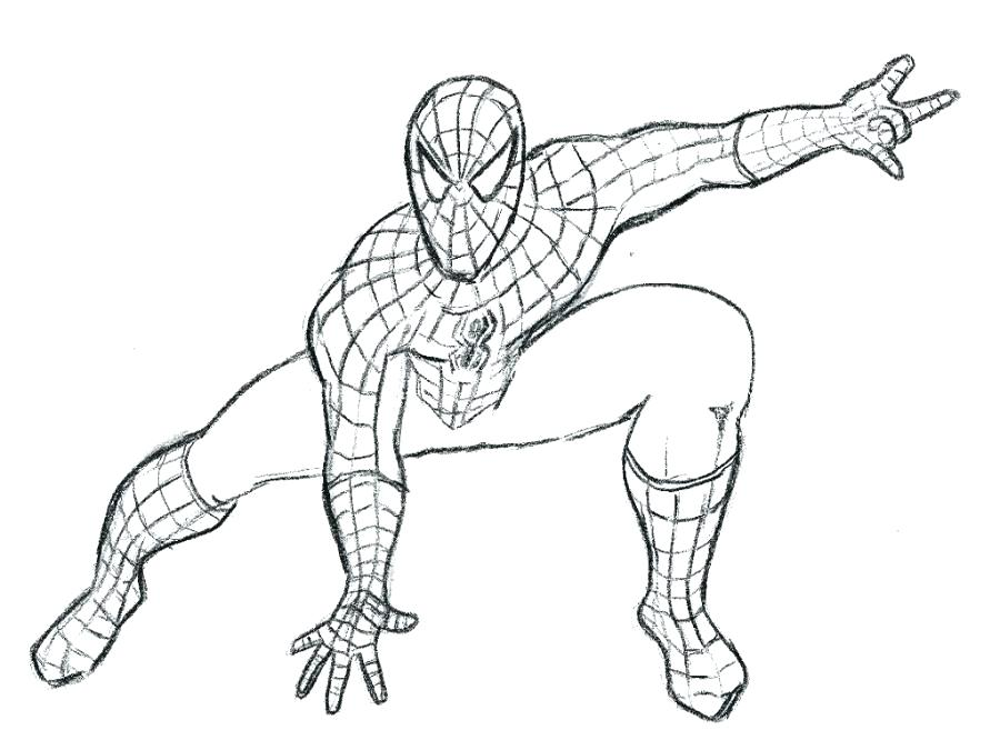 900x675 Spider Man Coloring Sheets Peter In His Convertible Fight Action