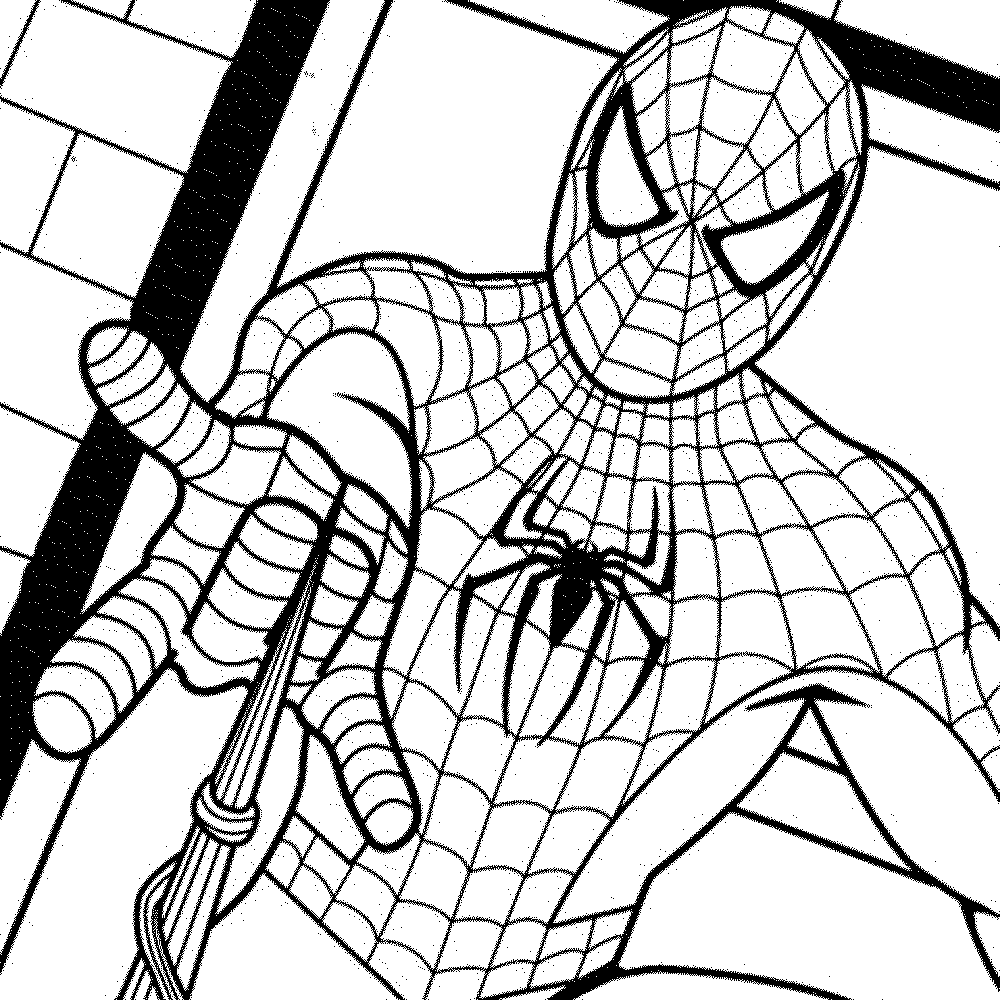 1000x1000 Spiderman Coloring Pages
