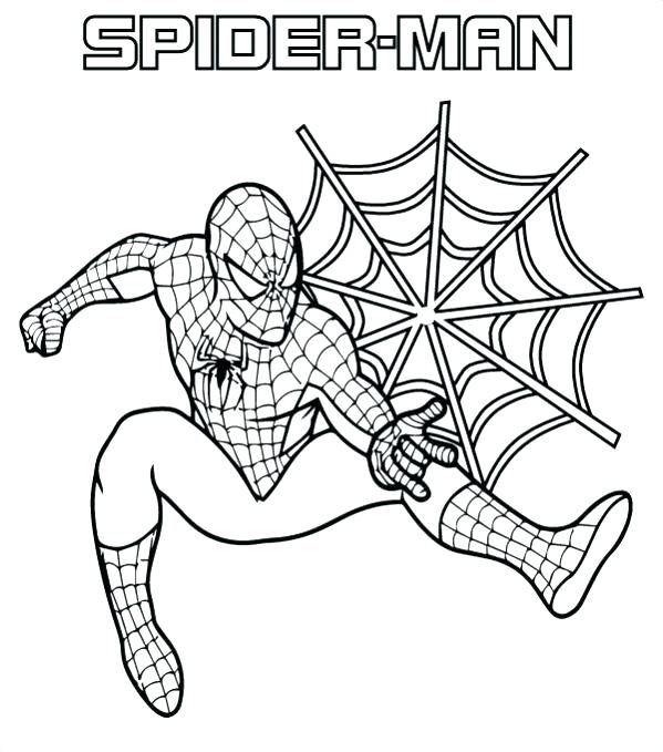 599x679 Spiderman Coloring Pages And The Amazing Printable On Drawn