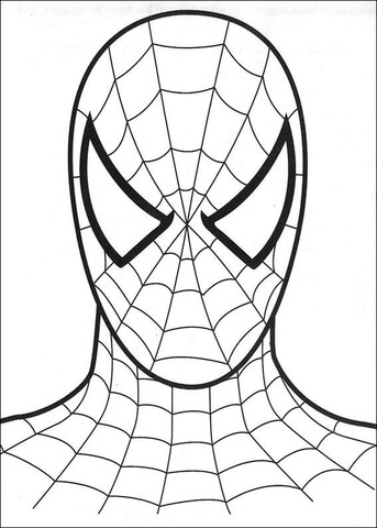 343x480 The Head Of Spider Man Coloring Page Free Printable Coloring Pages