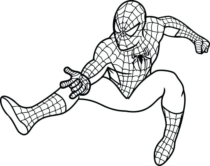Spiderman Drawing Pages At Getdrawings Com Free For
