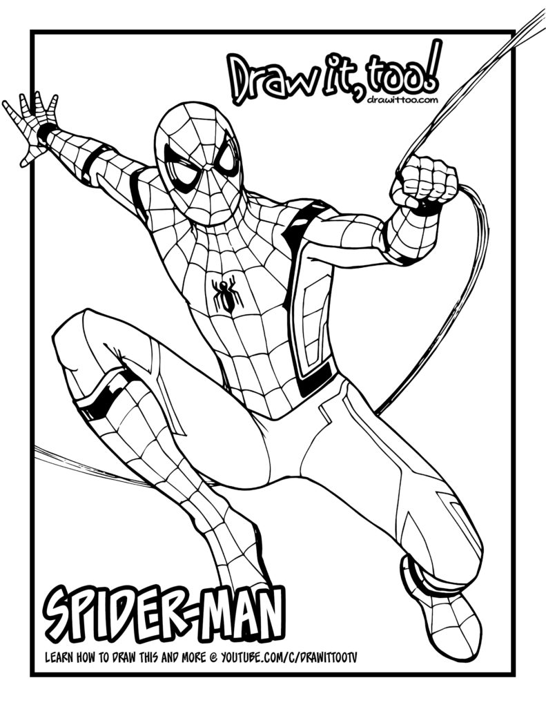 Coloriage Spiderman Homecoming Coloriage Spiderman Homecoming