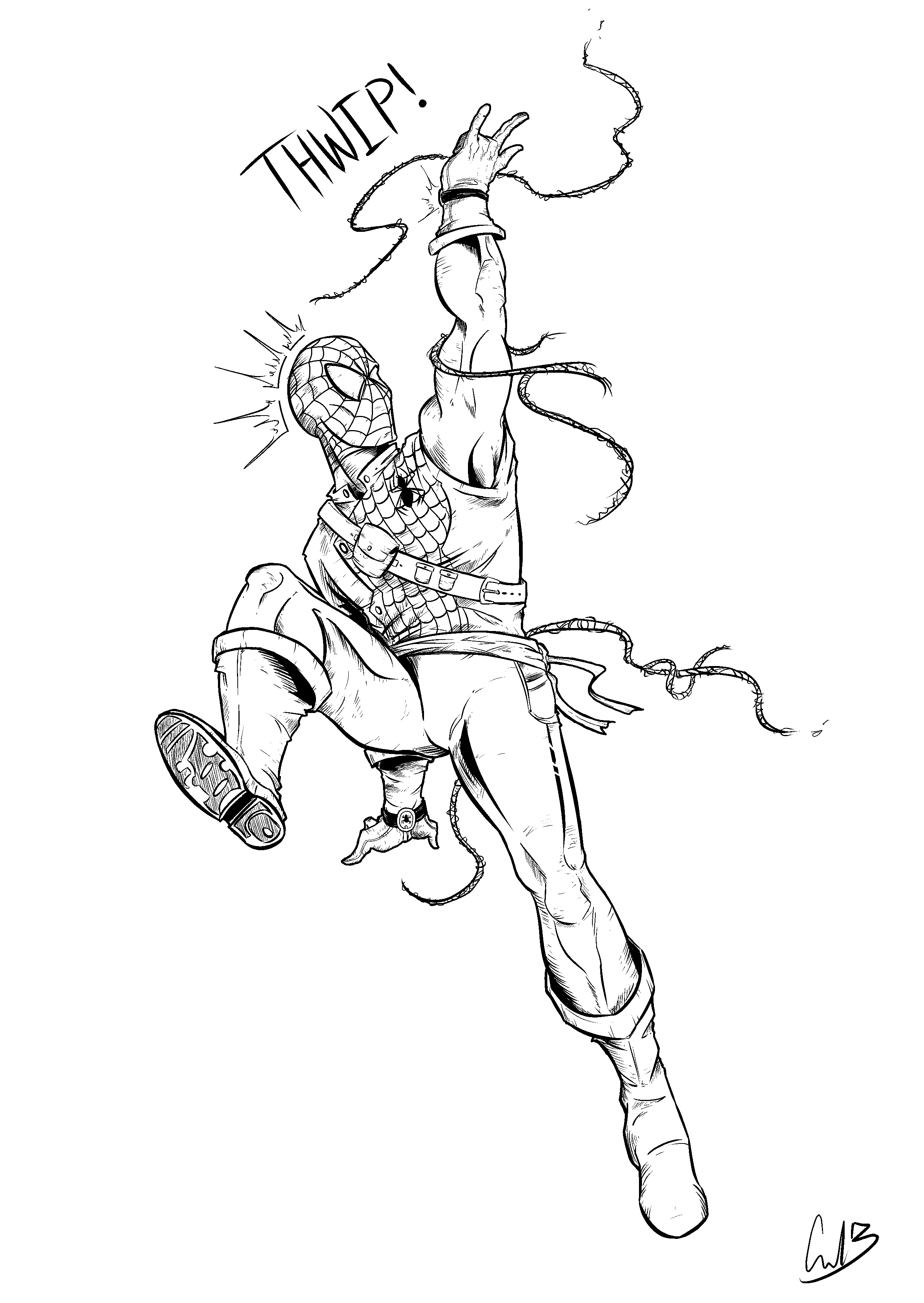 2480x3496 Here's An Inked And Rendered Version Of The Spiderman Drawing