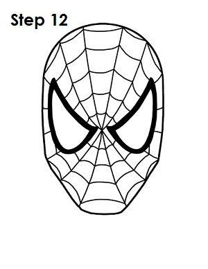 300x388 How To Draw Spider Man Step 12 Spider Man