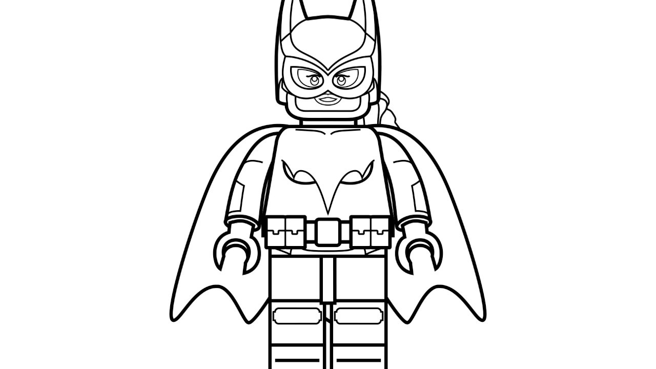 1280x720 Lego Batman And Spiderman Coloring Pages For Kids Learn Drawing