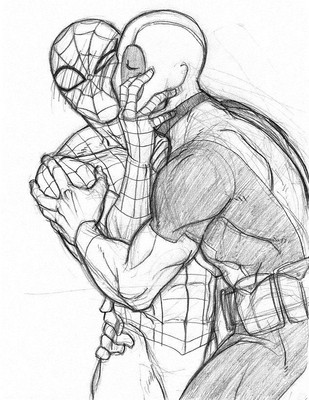 633x820 Peter Parker Wade Wilson Spider Man Deadpool Spideypool