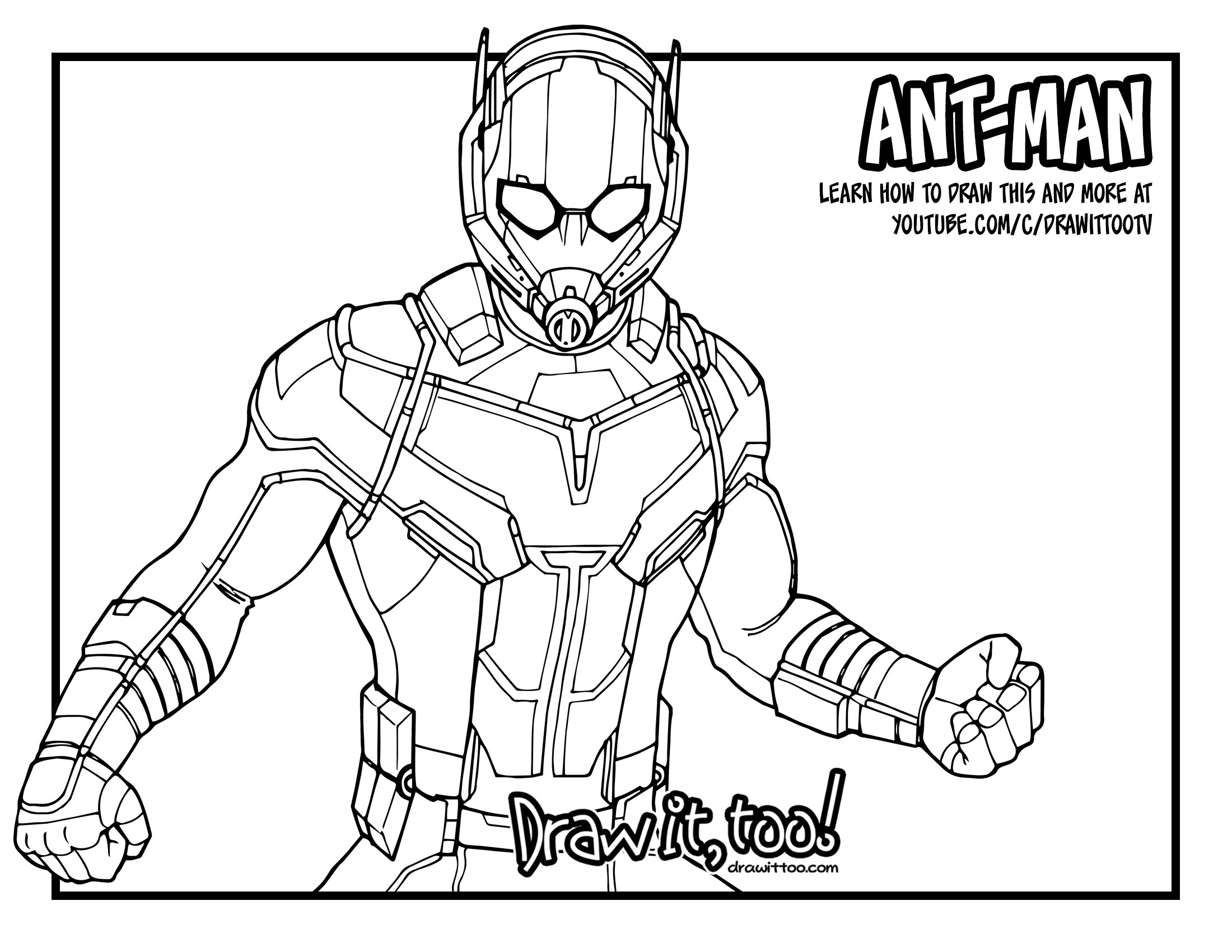 2200x1700 Ant Man Giant Man (Captain America Civil War) Drawing Tutorial