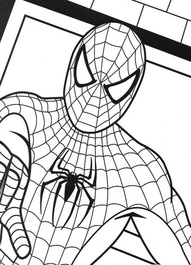 Book Coloring Pages Kids Fun Art 670x927 Spiderman Colouring Sheet Check Out Our Other Activity Sheets