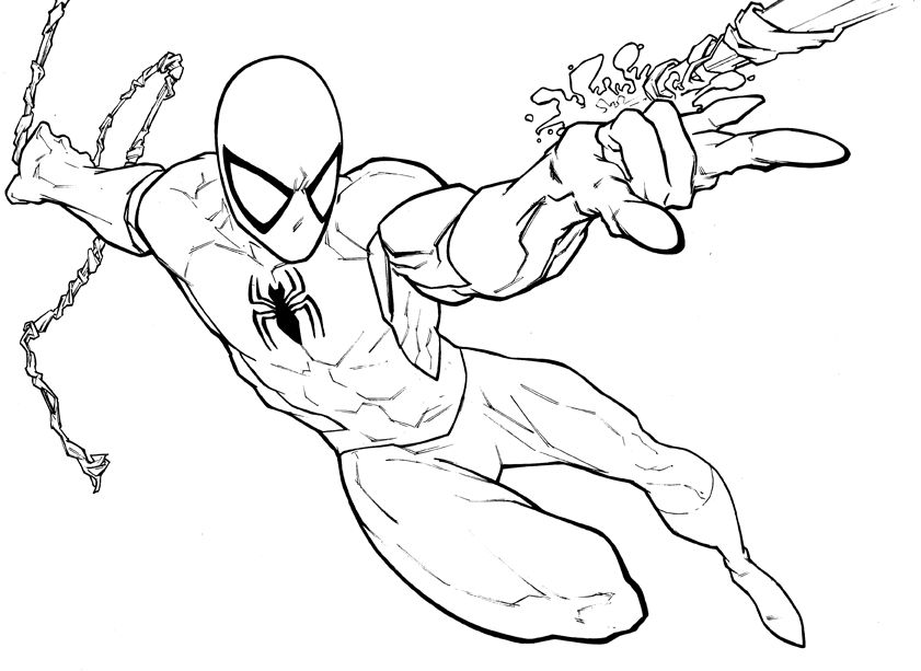 841x613 drawn spider man coloring book - Spiderman Drawings To Color