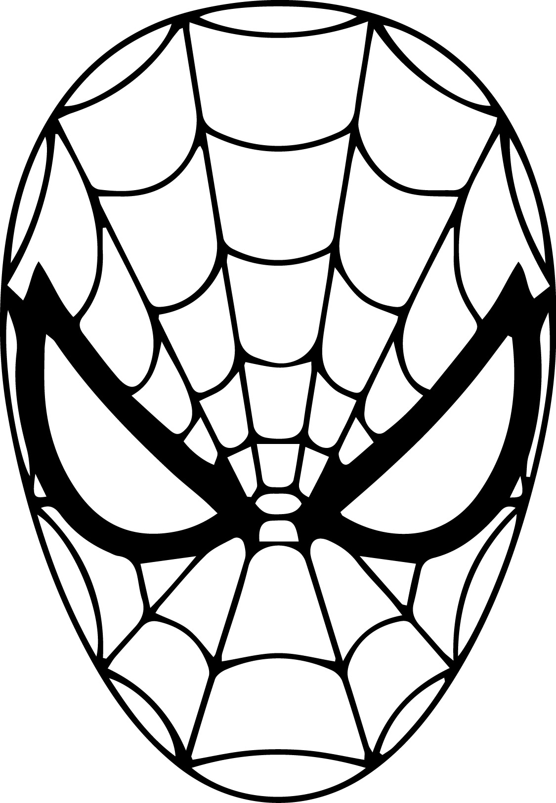 Spiderman Face Drawing at GetDrawings | Free download