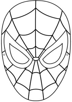 Spiderman face logo - photo#37