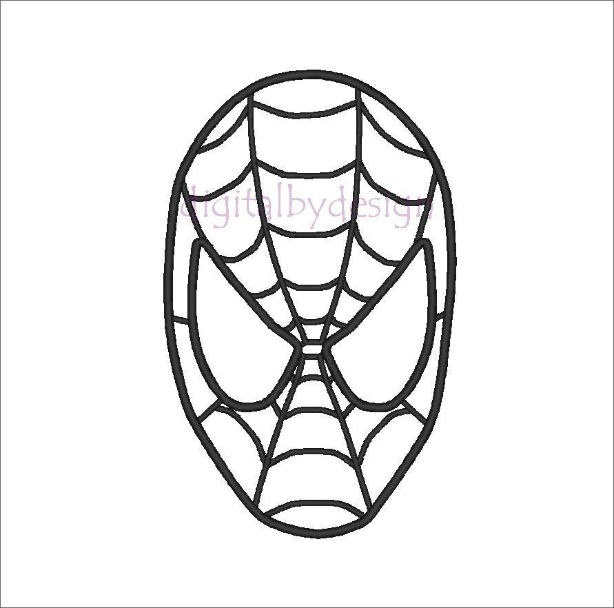 891x882 spiderman clipart outline