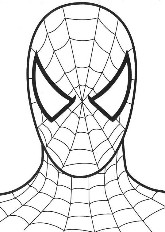Spiderman Face Drawing at GetDrawings.com | Free for personal use ...