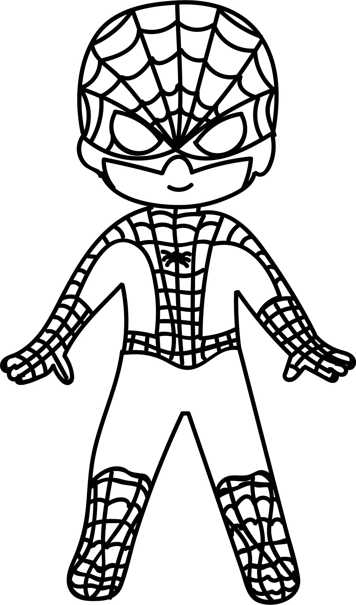 kids coloring pages spiderman | Spiderman Head Drawing at GetDrawings.com | Free for ...