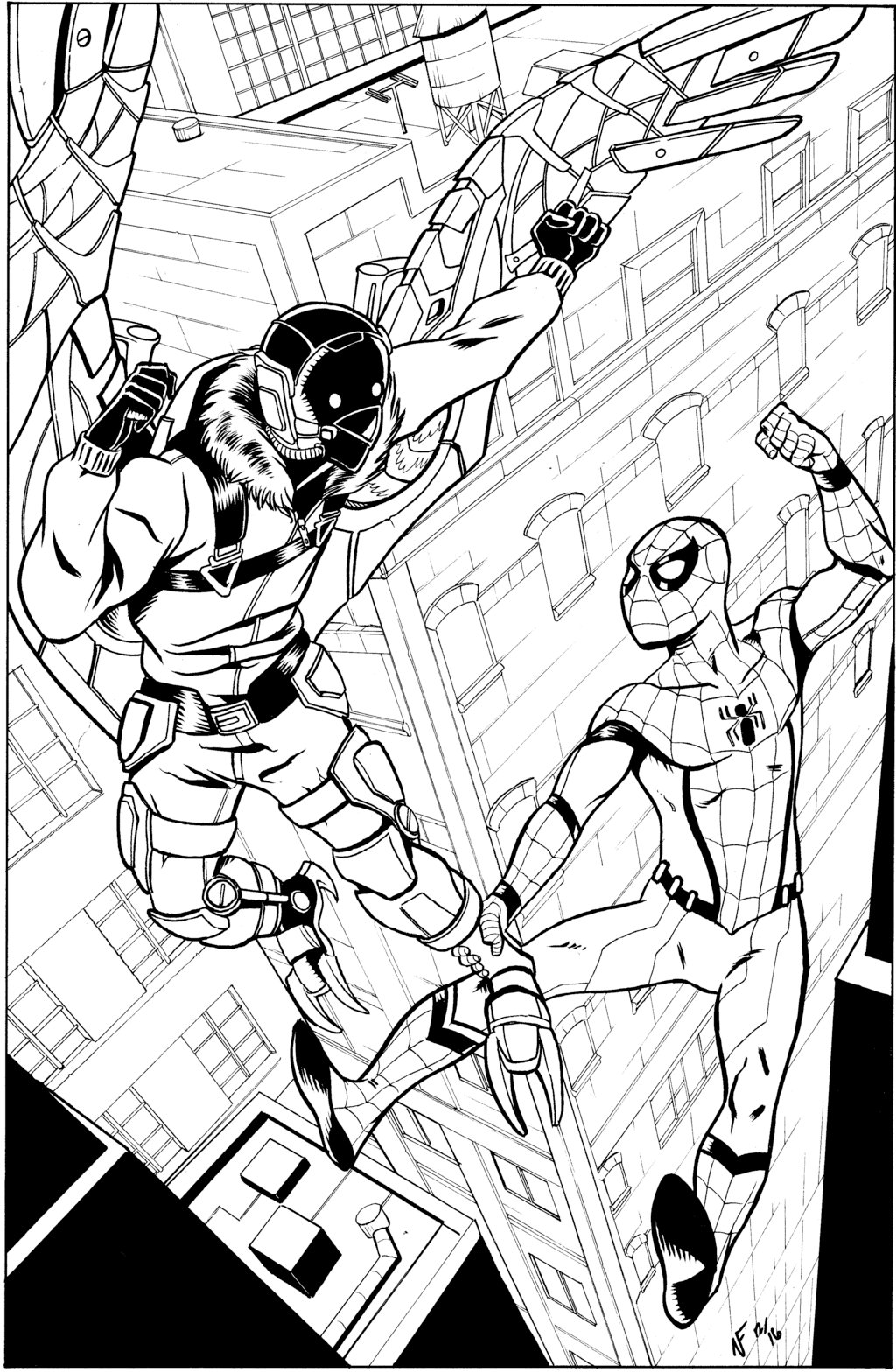1024x1568 Spider Man Homecoming Inks By Crimeroyale