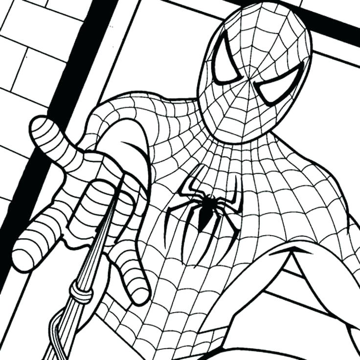 736x736 Spiderman Coloring Page Coloring Pages Of How To Draw Coloring