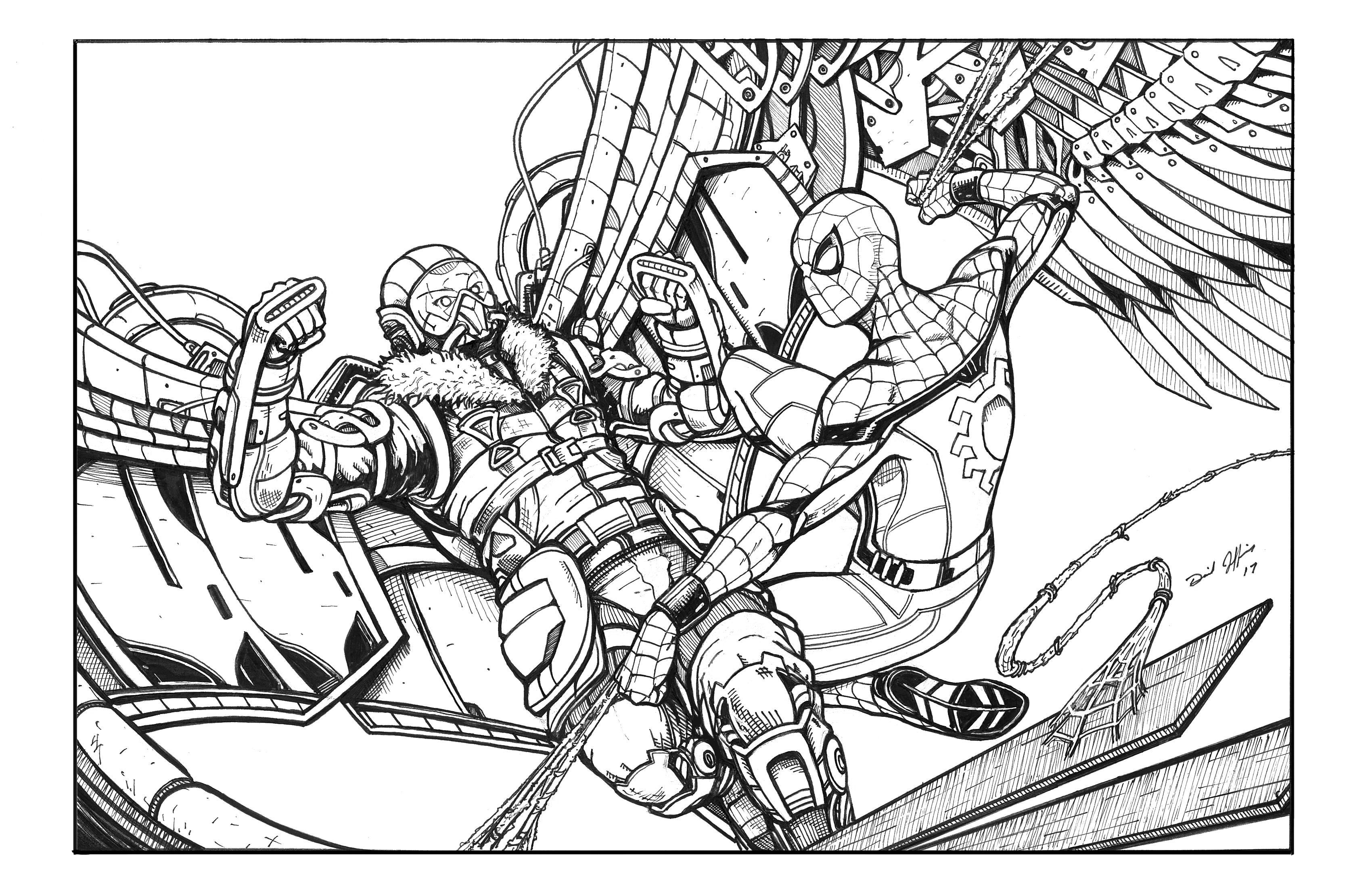 3400x2200 Spiderman Homecoming By Daniel Jeffries