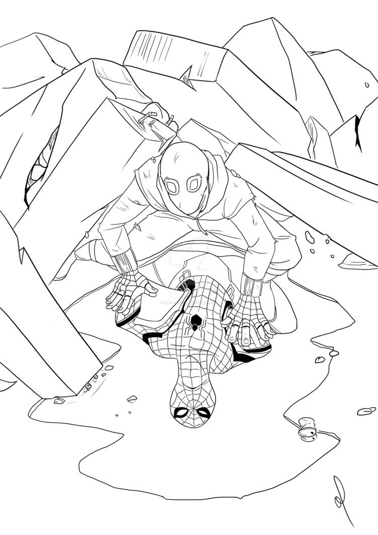 752x1063 Spiderman Homecoming By Omkarpatole