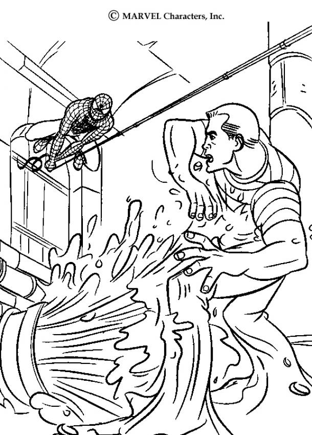 610x850 Spiderman And Sandman Coloring Pages