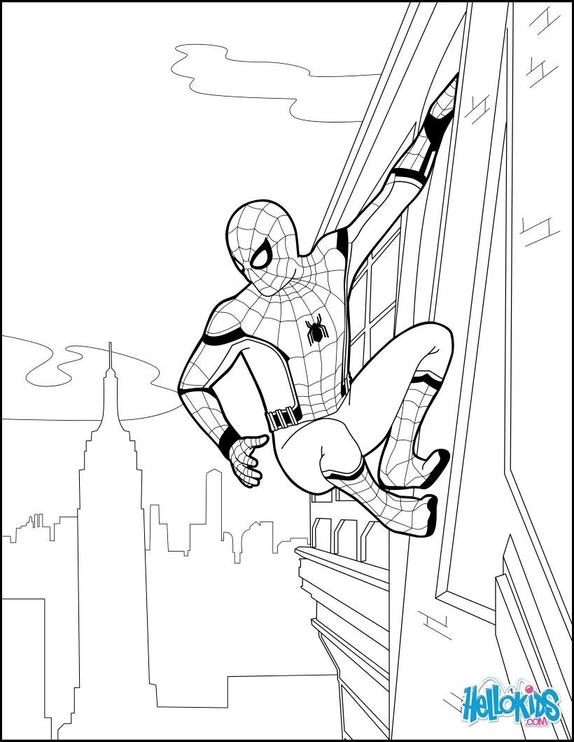820x1060 Spiderman Coloring Page From The New Spider Homecoming Movie. More