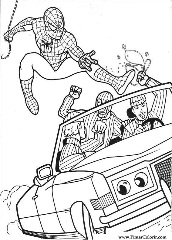 Spiderman Line Drawing At Getdrawings Free Download