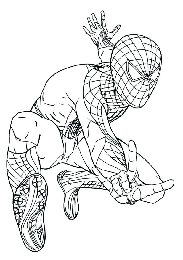 618x874 Lego Spiderman Coloring Pages Online Spider Man Free Superheroes