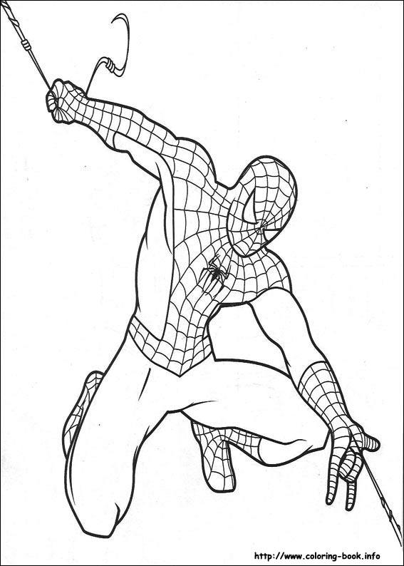 Spiderman Line Drawing At GetDrawings
