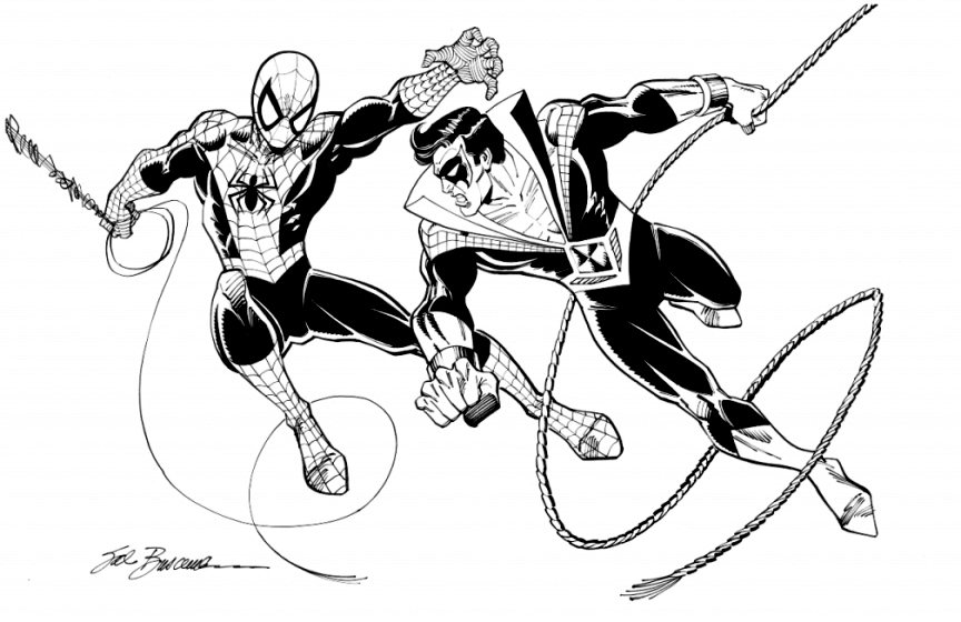 864x560 Spider Wing' Spider Man Amp Nightwing By Sal Buscema, In Jerry