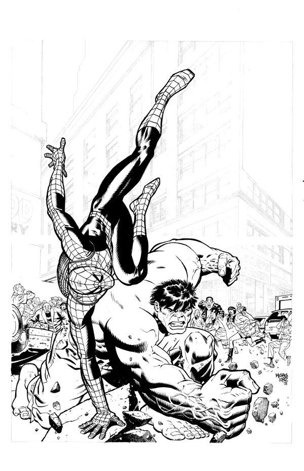 600x928 Spiderman Vs Hulk By LOPEZMICHAEL On DeviantArt