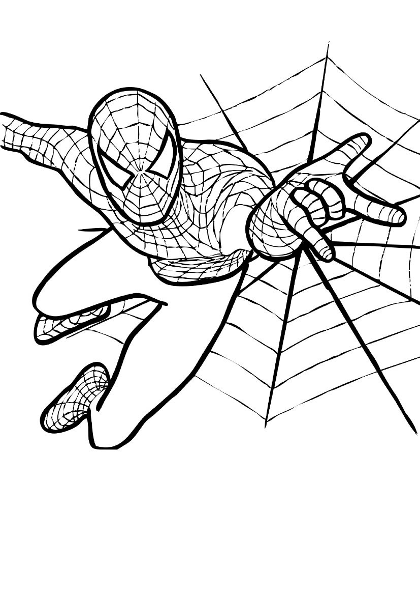 827x1169 To Download Spiderman Coloring Pictures 49 With Additional Line