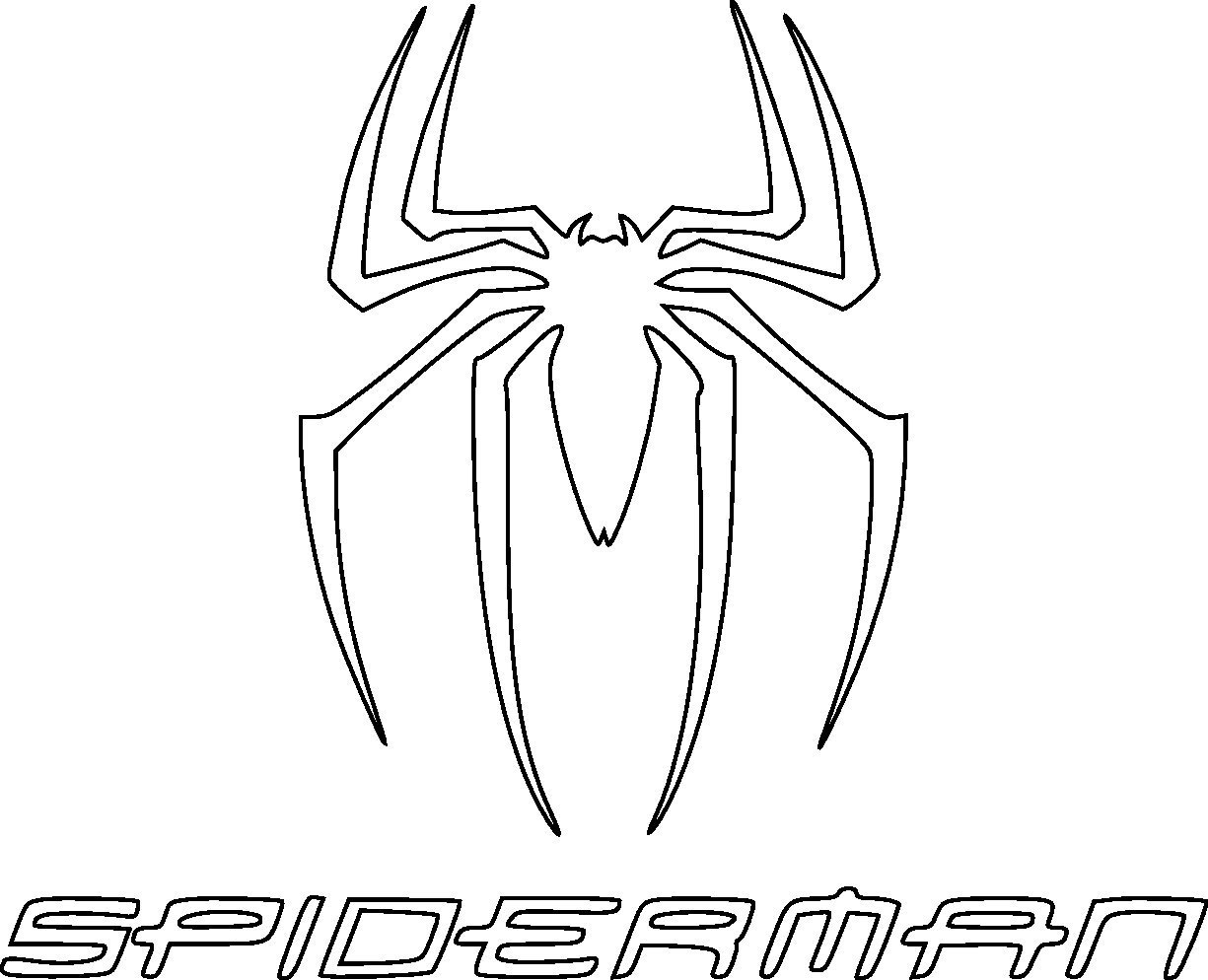 spiderman logo drawing at getdrawings com free for personal use