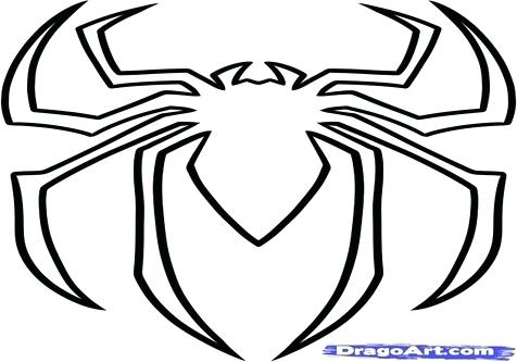 Spiderman Logo Drawing At Getdrawings Com Free For Personal Use Rh