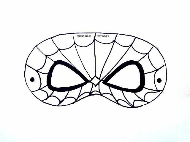 Spiderman Mask Drawing