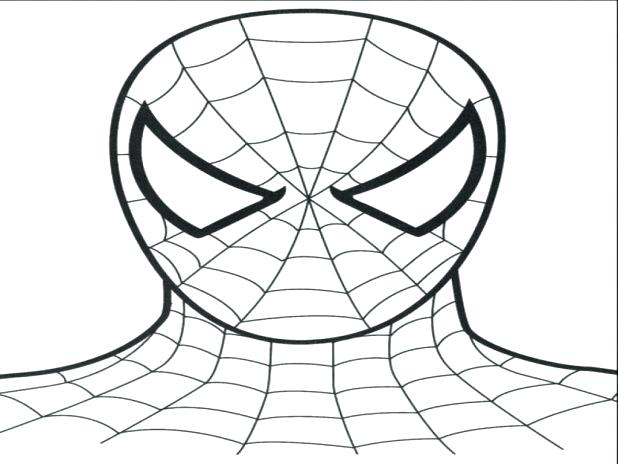 Spiderman Mask Drawing at GetDrawings.com | Free for personal use ...