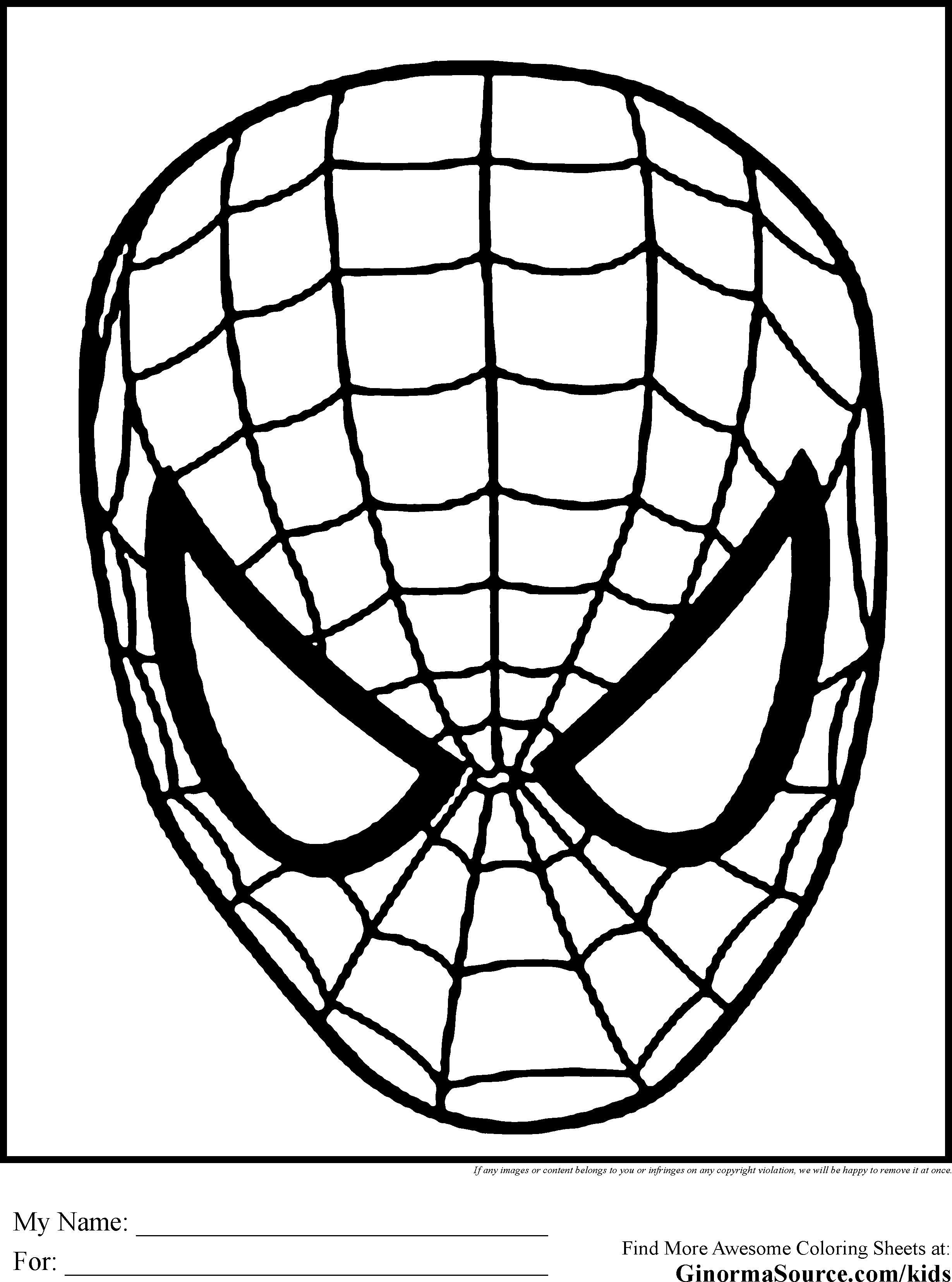 Spiderman Mask Drawing at GetDrawings