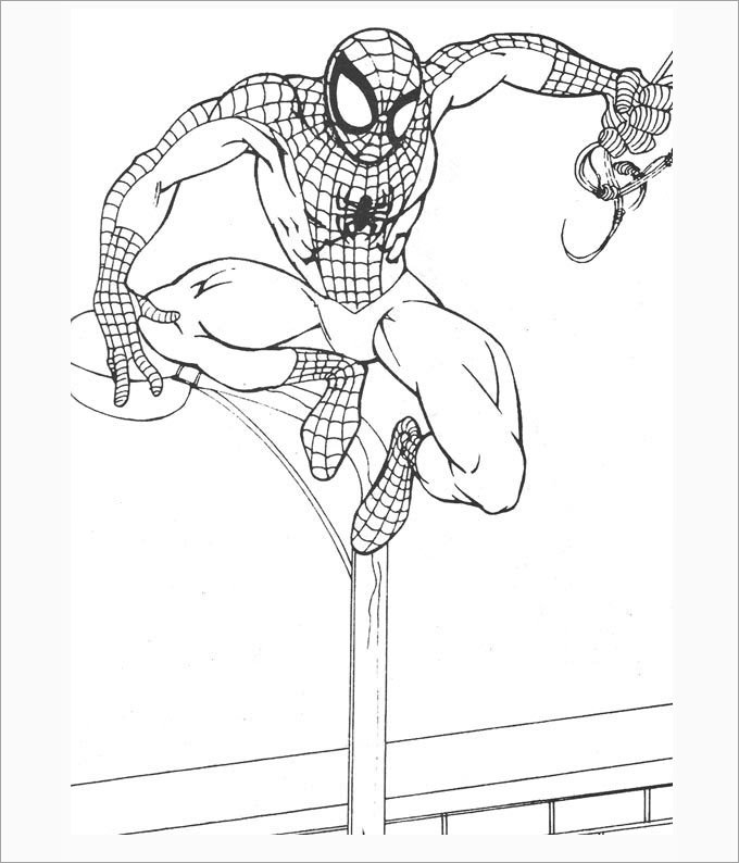 Spiderman Outline Drawing