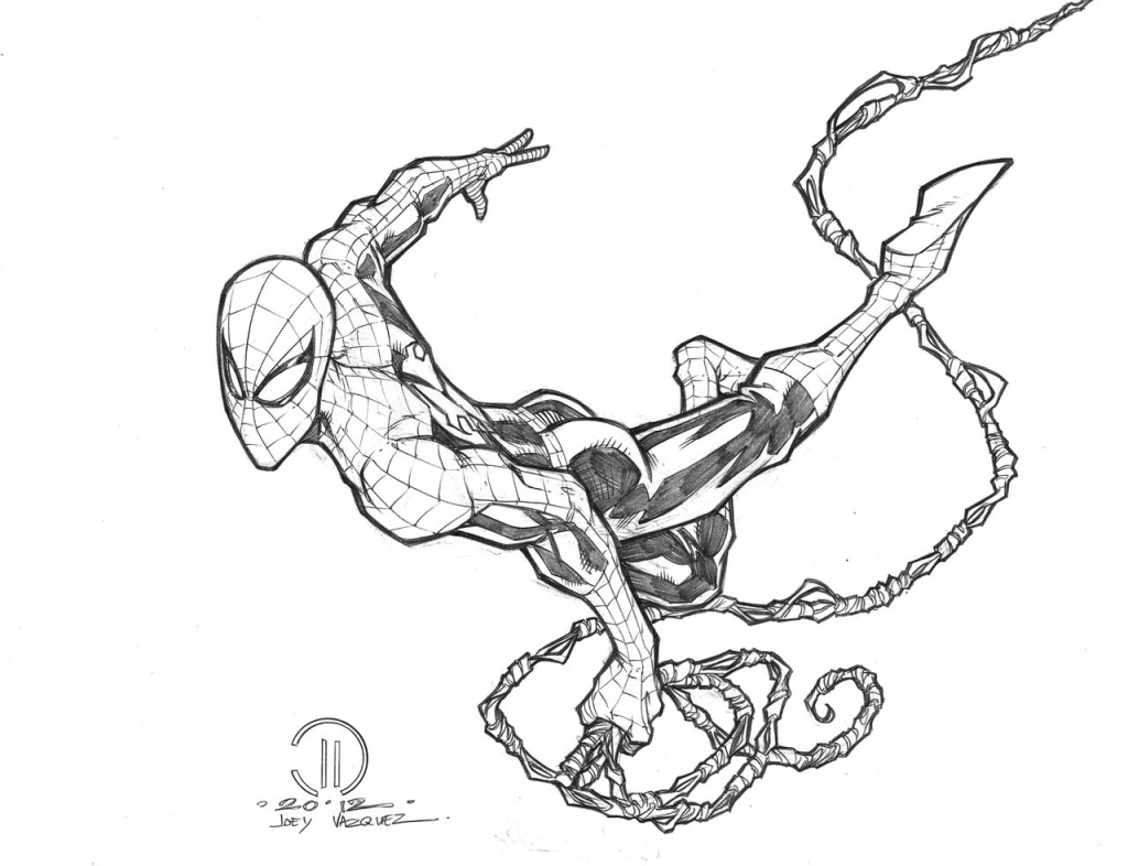 1024x786 Drawing Of Spiderman Best Photos Of Spider Man Outline Drawing
