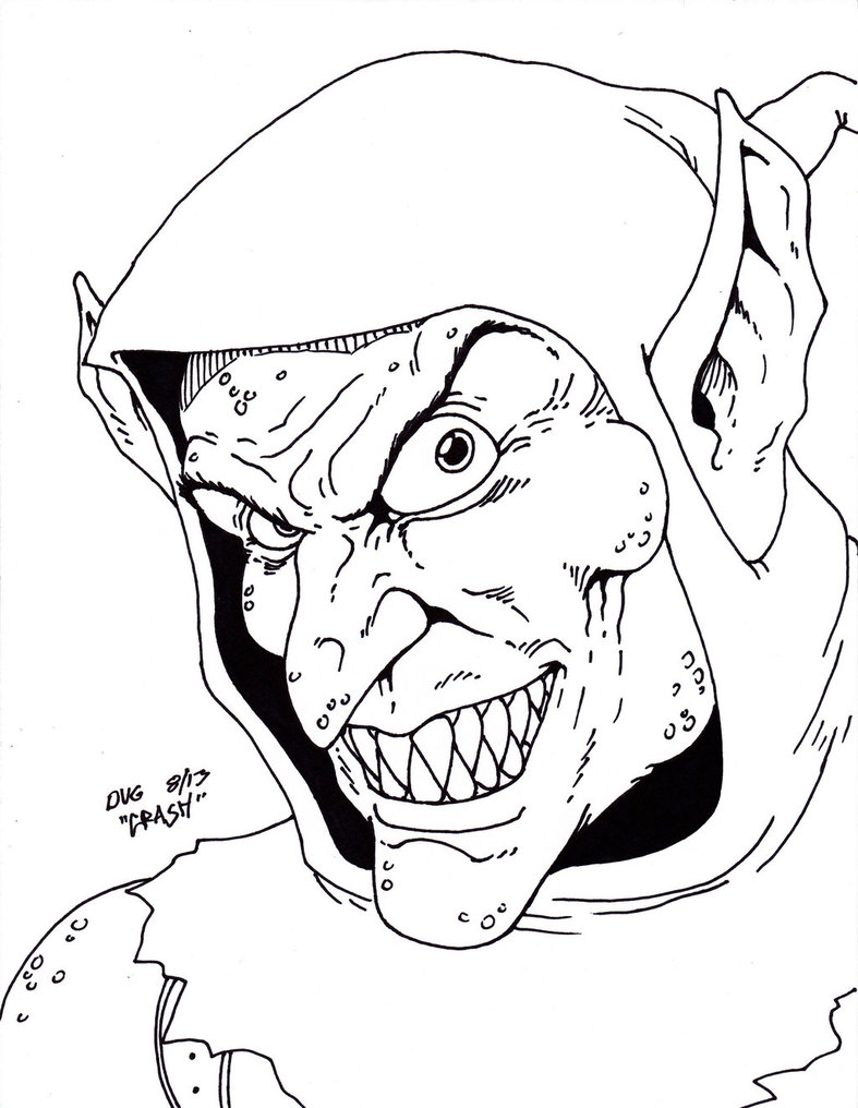 787x1016 Sketch Green Goblin By Bazito On Coloring Pages For Adults Free