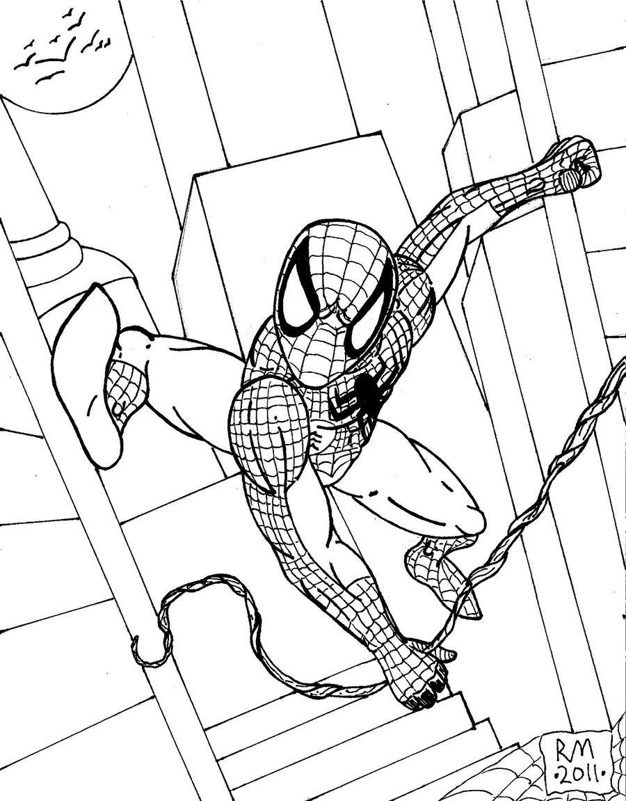 900x1151 Spider Man 2 Outline' By Richardmeeker