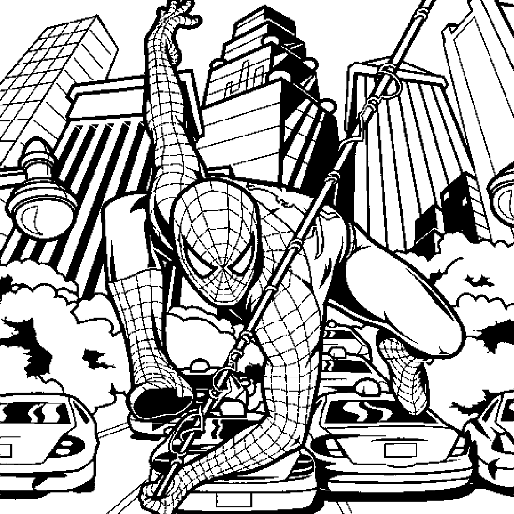 1000x1000 Spiderman Wiht Nerf Gun Mega Magnus Coloring Book Pages Pleasing